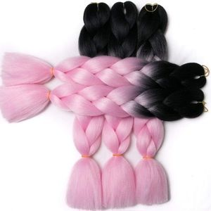 5 packs of Pink & Black ombré braiding hair *NWT*